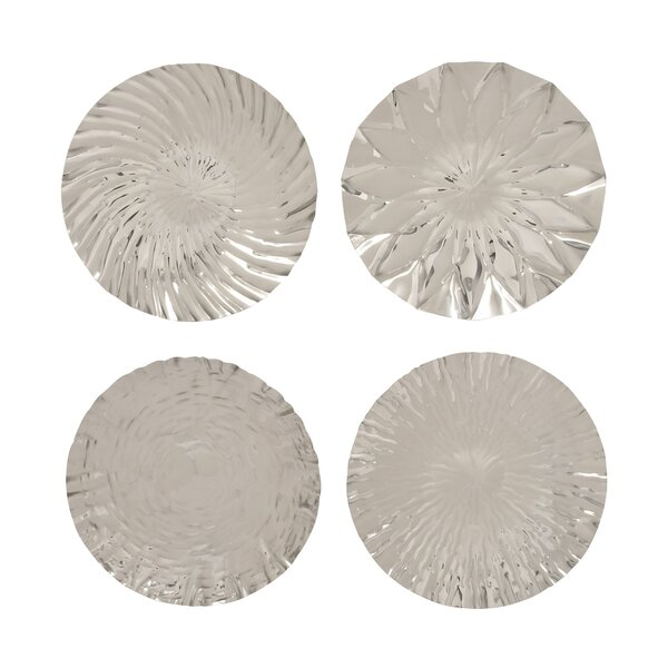 Stainless Steel Wall Platter Set (Set of 4) by Cole & Grey
