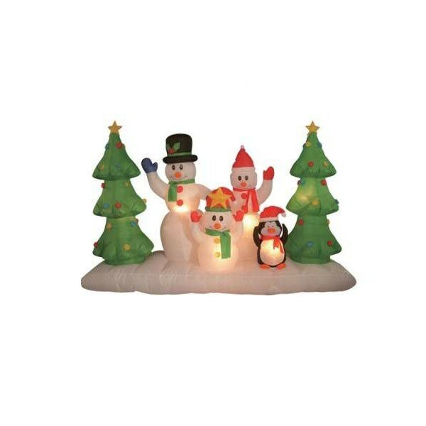 Christmas Inflatable Snowmen Family Decoration by