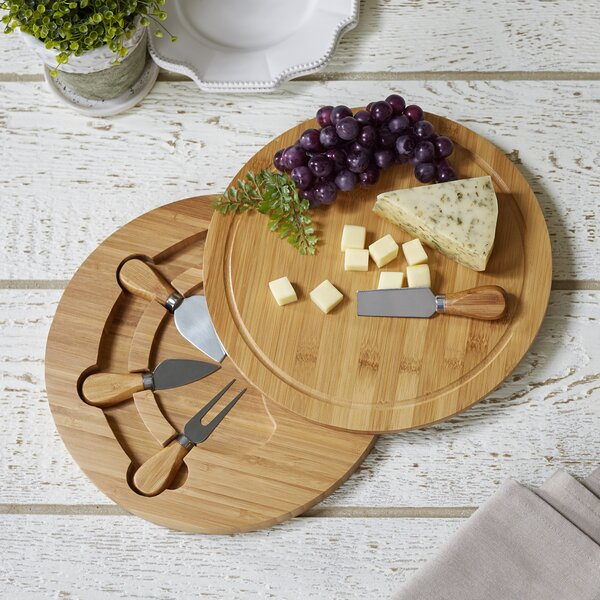5 Piece Cheese Board and Platter Set by Birch Lane™