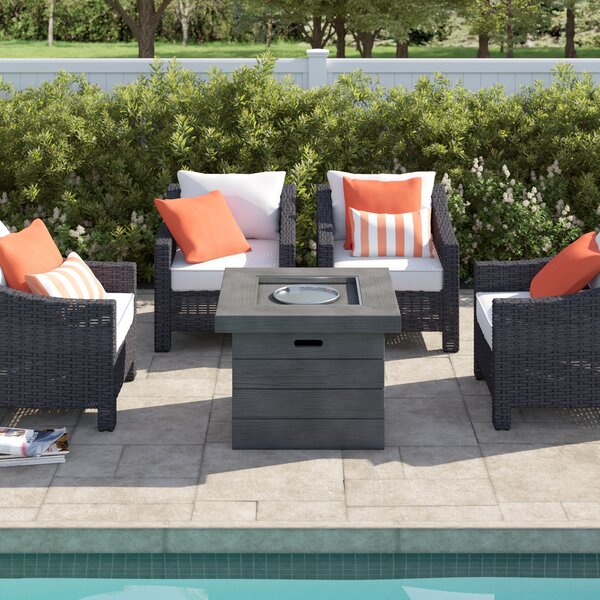 Portola 5 Piece Multiple Chairs Seating Group with Cushions by Sol 72 Outdoor