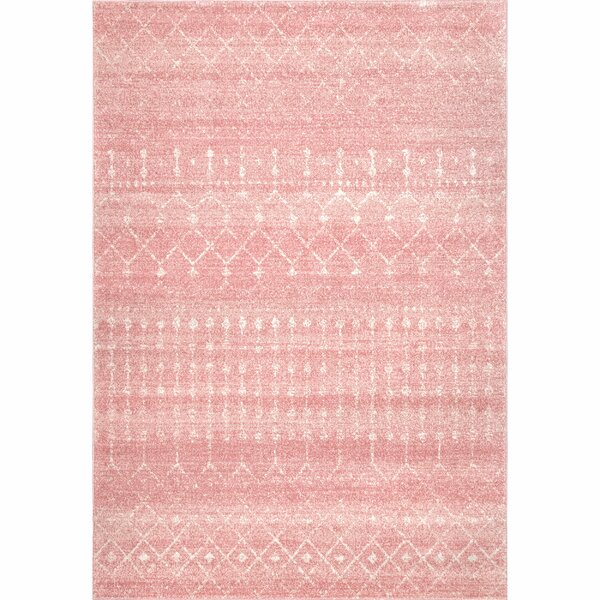 Isamar Pink Area Rug by Bungalow Rose
