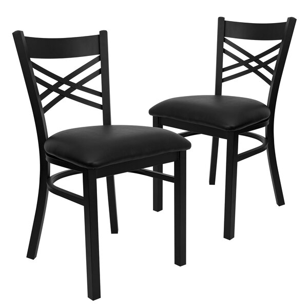 Chafin Upholstered Dining Chair (Set of 2) by Winston Porter