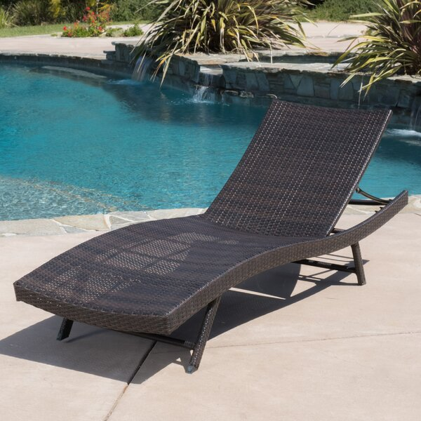 Noelle Reclining Chaise Lounge by Wade Logan