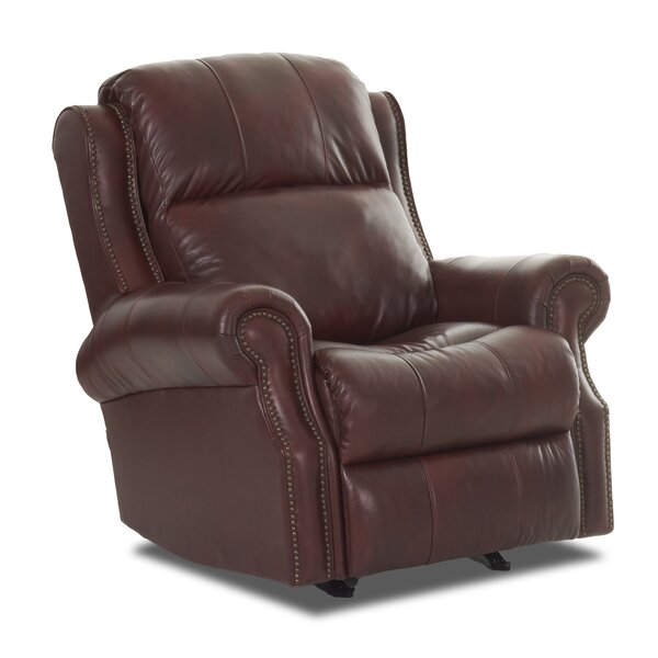 Defiance Leather Power Rocker Recliner RDBS8752