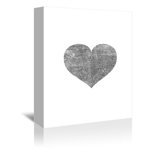 Love Heart Swinging Graphic Art on Wrapped Canvas by Americanflat