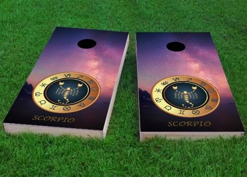 Zodiac Stars Scorpio Themed Cornhole Game (Set of 2) by Custom Cornhole Boards