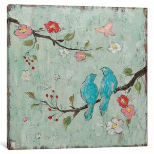 'Love Birds I' Painting Print on Canvas by Lark Manor