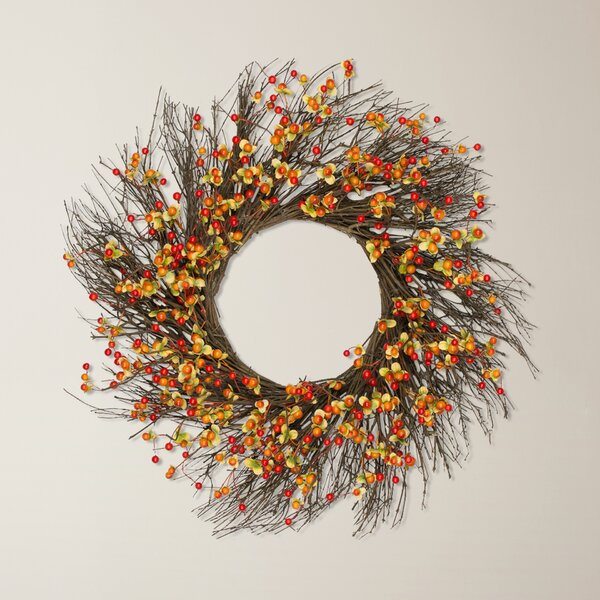 24 Indoor Berry Wreath by August Grove