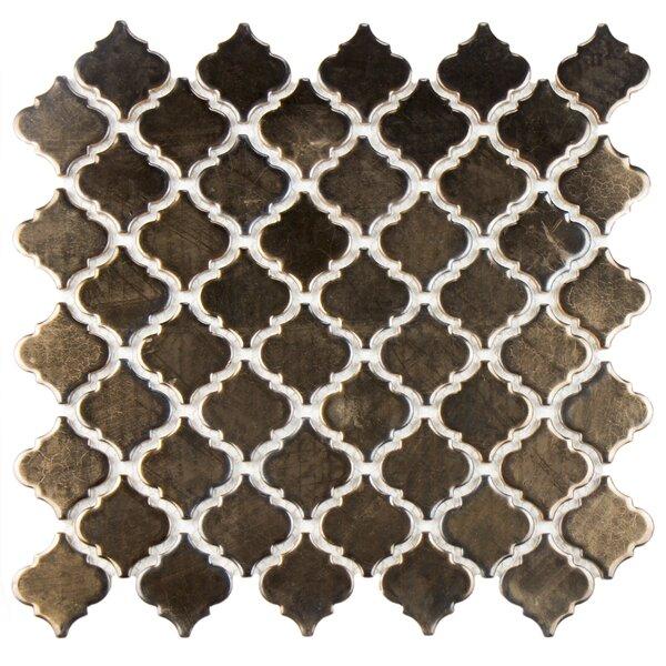 Pharsalia 2 x 2.25 Porcelain Mosaic Tile in Gold by EliteTile