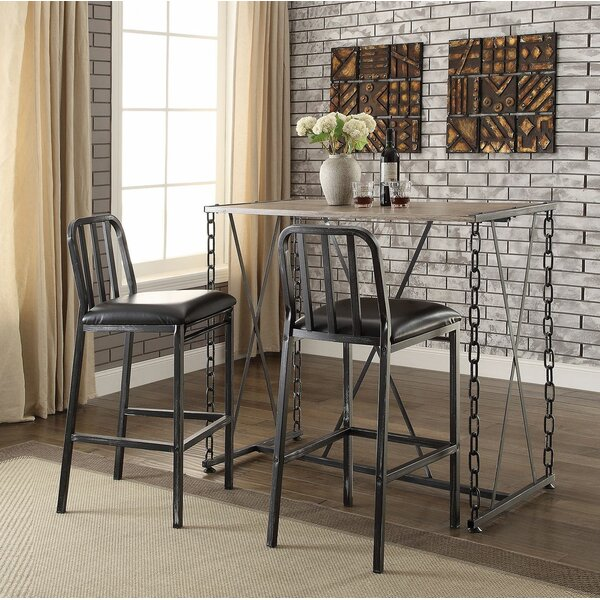 Aya 3 Piece Pub Table Set by 17 Stories 17 Stories
