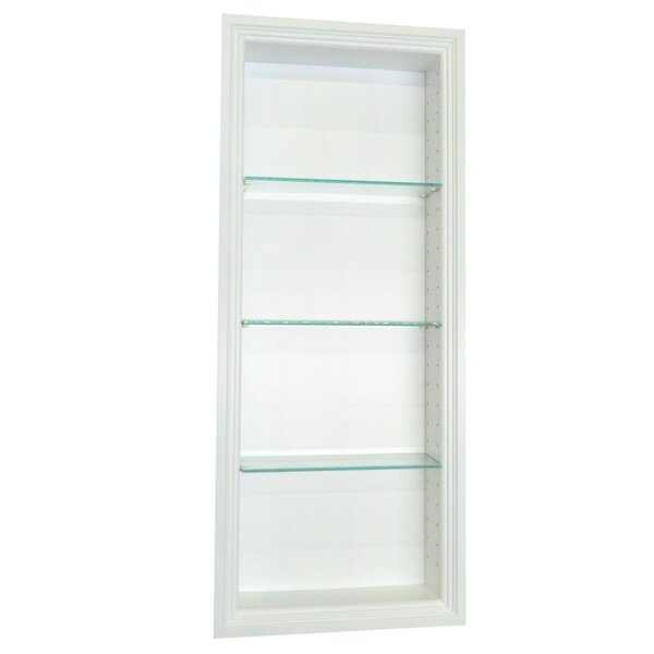 Bal Harbour 15.5 W x 31.5'' H Recessed Shelving by WG Wood Products