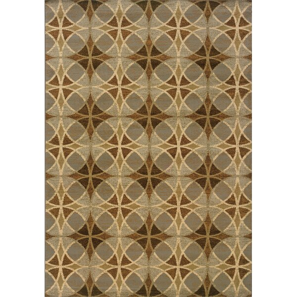 Harper Blue/Beige Area Rug by Threadbind