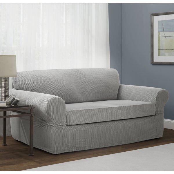 Stretch Box Cushion Loveseat Slipcover by Red Barrel Studio
