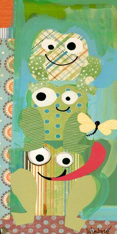 Silly Frogs Canvas Art by Oopsy Daisy