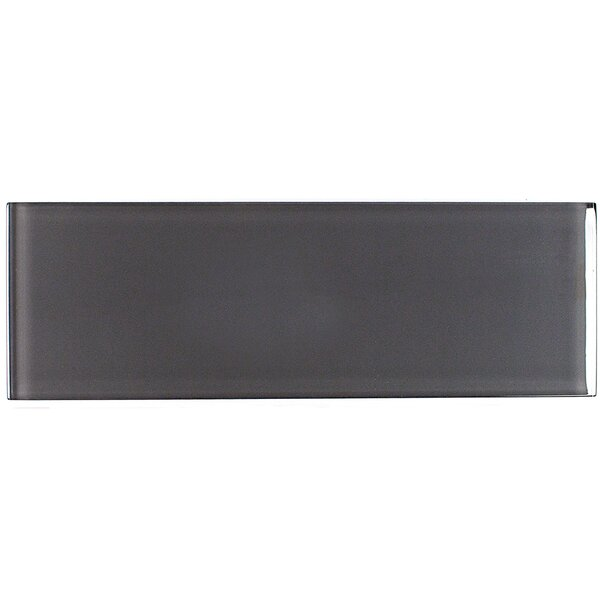 Contempo 4 x 12 Glass Subway Tile in Smoke Gray by Splashback Tile