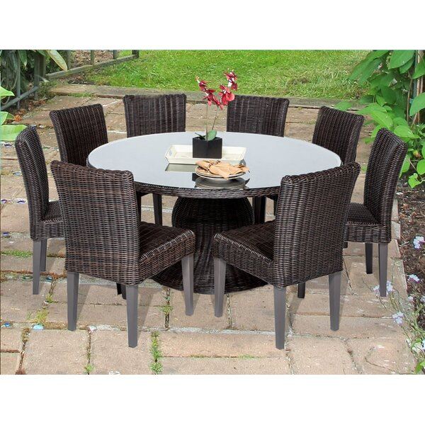 Eldredge 9 Piece Dining Set by Rosecliff Heights