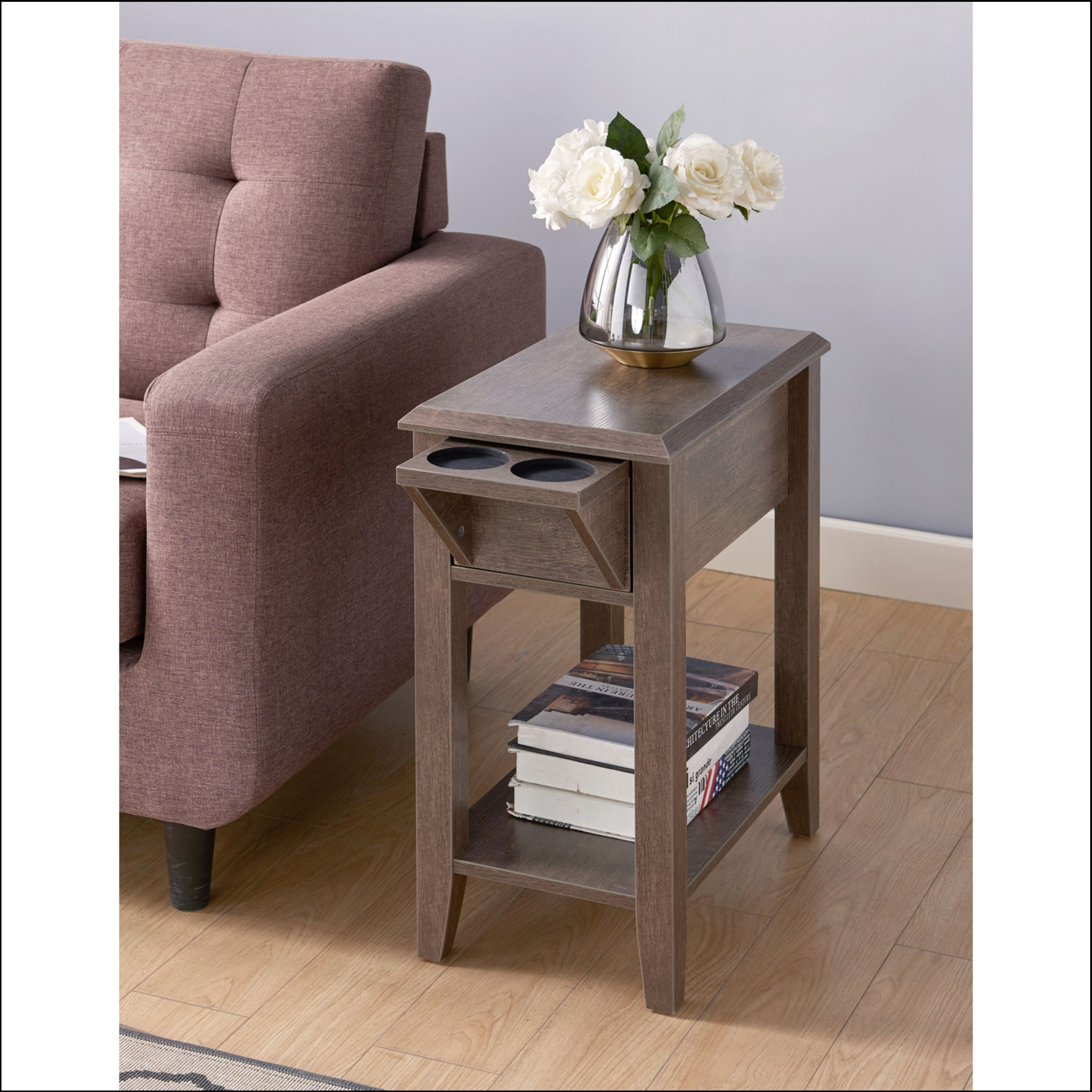 Hajibei End Table With Storage Reviews Wayfair