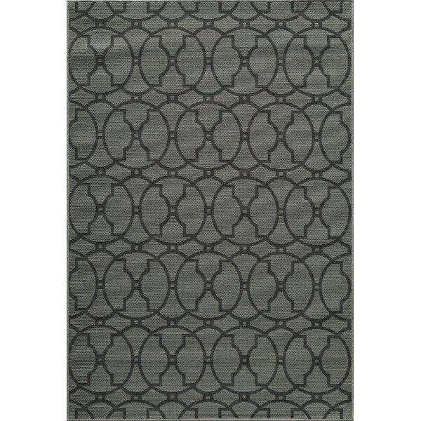 Halliday Charcoal Indoor/Outdoor Area Rug by Beachcrest Home