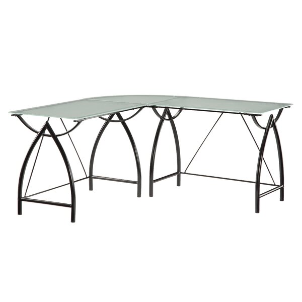 Harjo Glass L-Shape Desk