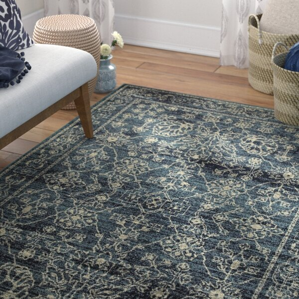 Lytham Faded Traditions Navy/Beige Area Rug by Charlton Home