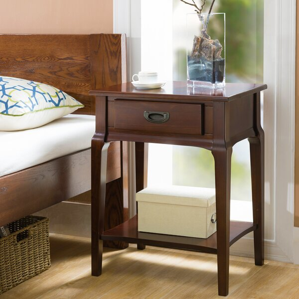 Jacobsen 1 Drawer Nightstand by Charlton Home