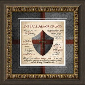 Biblical 'Full Armor of God' Framed Textual Art by Carpentree