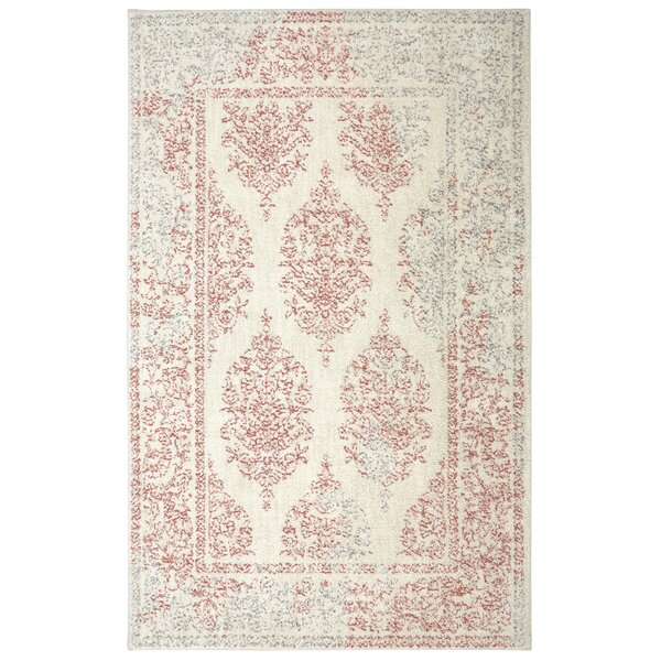 Rolla Coral/Beige Area Rug by Bungalow Rose