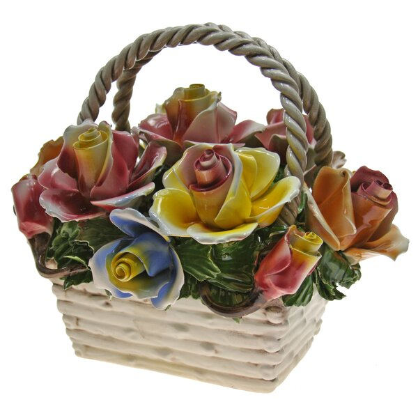 Rectangular Flower Mix Bouquet in Basket by August Grove
