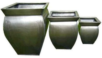 Emst Square 3-Piece Metal Pot Planter Set by Bloomsbury Market