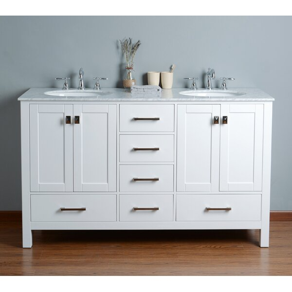 Ankney 60 Double Bathroom Vanity Set by Brayden St