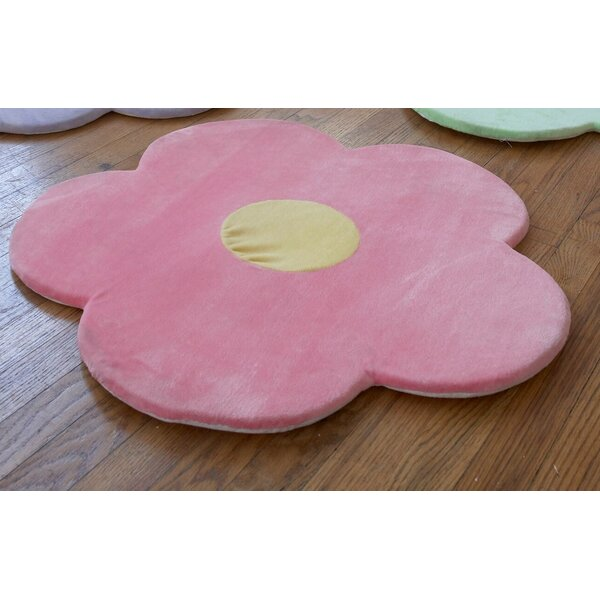 Baldree Daisy Flower Kids Indoor/Outdoor Area Rug by Harriet Bee