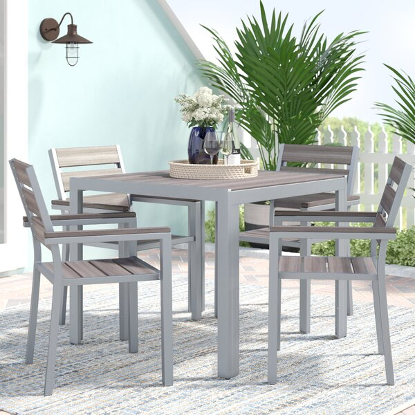 Allen 5 Piece Dining Set by Beachcrest Home