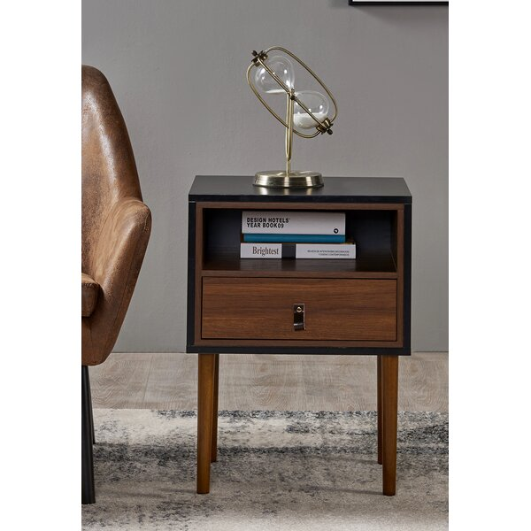 Reno End Table with Storage by VERSANORA