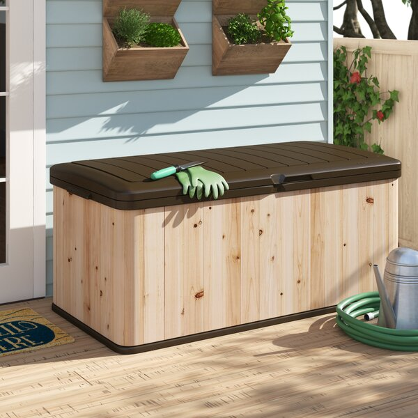 120 Gallon Cedar Deck Box by Suncast Suncast