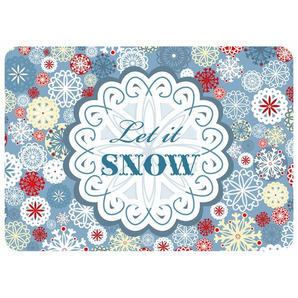 Let It Snow Kitchen Mat
