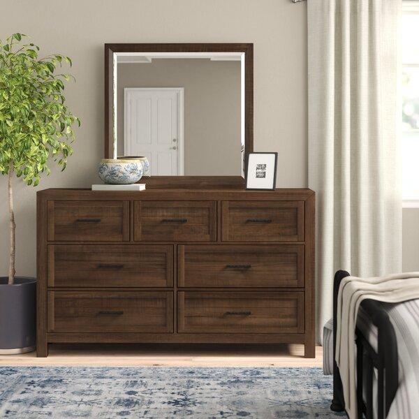 Craigsville 7 Drawer Dresser with Mirror by Three Posts Three Posts