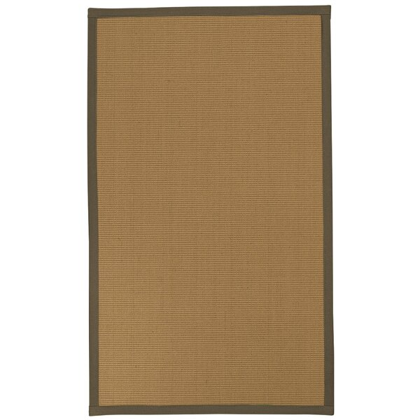 Magruder Border Hand-Woven Wool Beige/Fossil Area Rug
