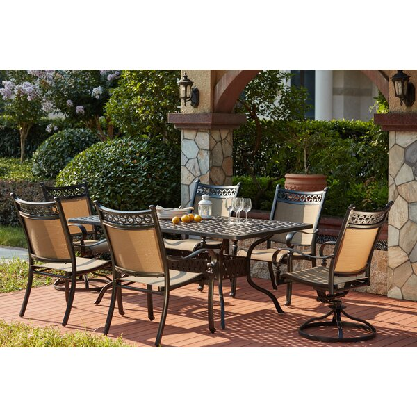 Wabon Traditional 7 Piece Dining Set by Darby Home Co