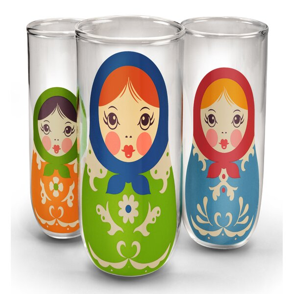 Babushkups 3 Piece Water/Juice Glass by Fred