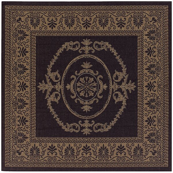 Celia Black/Brown Indoor/Outdoor Area Rug by Beachcrest Home