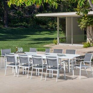11 Piece Outdoor Dining Set Wayfair