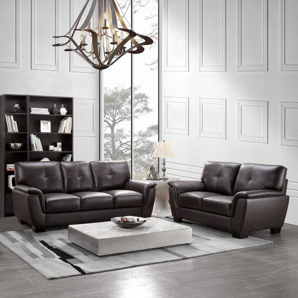 Lawley 2 Piece Leather Living Room Set by Darby Home Co