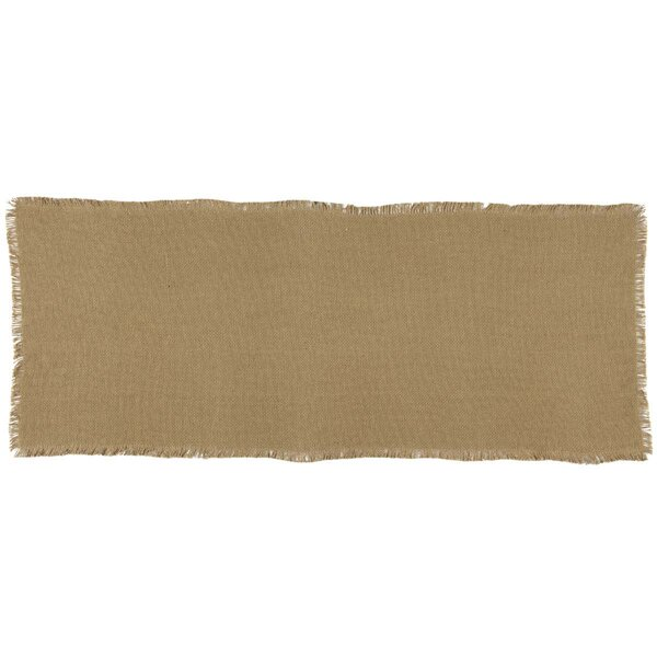 Mulley Natural Burlap Fringed Runner by Gracie Oaks