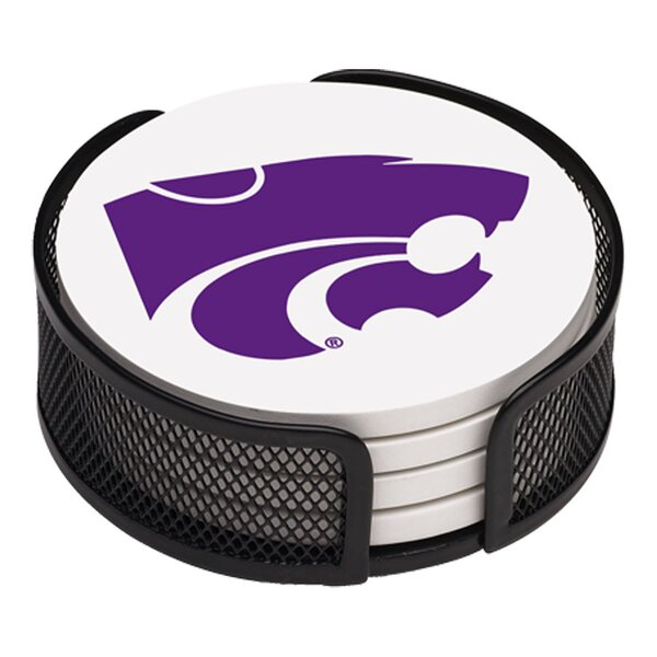 5 Piece Kansas State University Collegiate Coaster Gift Set by Thirstystone