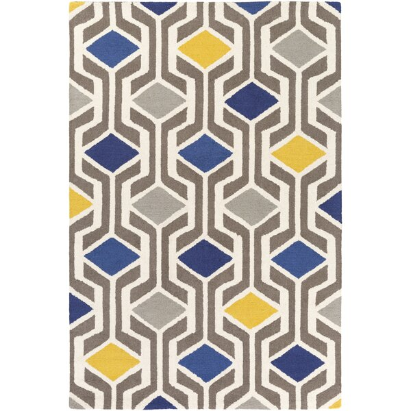 Younkin Hand-Crafted Blue/Gray Area Rug by George Oliver