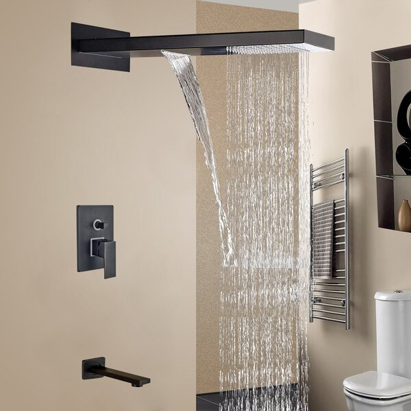 Rio 3 Ways Wall Mount Volume Control Complete Shower System With Rough-in Valve By FontanaShowers