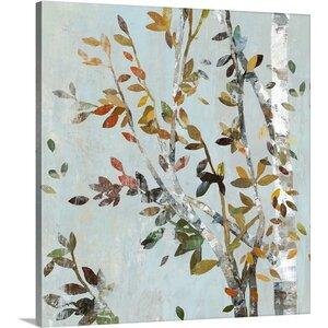Birch with Leaves II by Allison Pearce Painting Print on Canvas by Great Big Canvas