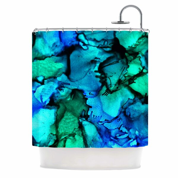 Claire Day Tidal Waves Shower Curtain by East Urban Home