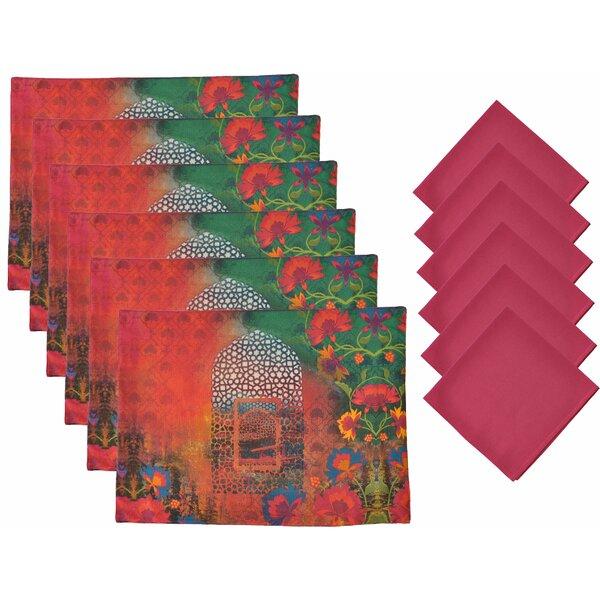 12 Piece Placemat Set by Aspire Linens