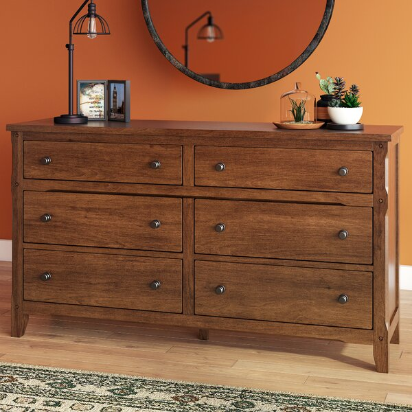 Hearns 6 Drawer Double Dresser by Loon Peak